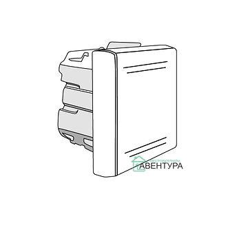 Выключатель однополюсный, 2 модуля, цвет серый (45031)