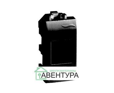 BRAVA Переключатель 2 поста 2 модуля белый IN-Liner FRONT