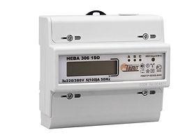 Электроматериалы - Счетчик электроэнергии трехфазный однотарифный Нева306 100/5 Т1 D 230/400В ЖК (6056055)