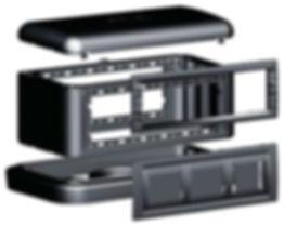 Напольная башенка BUS 12 модулей IP40 черная (09090)