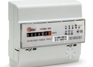 Счетчик электроэнергии трехфазный однотарифный Нева303 100/5 Т1 D 230/400В ОУ - Электроматериалы в С