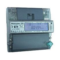 Электроматериалы - Счетчик электроэнергии трехфазный многотарифный Меркурий 236 ART-02 RS 100/10А кл1/2 RS485 оптопорт 230/400В (236ART02RS)