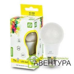 Лампа LED-A60-Standart 7Вт 220В Е27 3000К 600Лм ASD