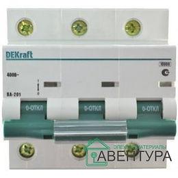 Выключатель автоматический 3п 25А D ВА-101 4,5кА DEKraft (11128)
