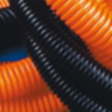Труба гофрированная ПНД 20 мм с протяжкой оранжевая (100м) (71920)
