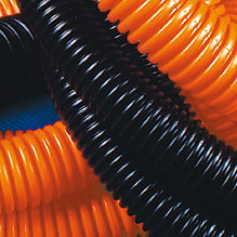 Труба ПНД 25 мм с протяжкой оранжевая (50м) (71925)