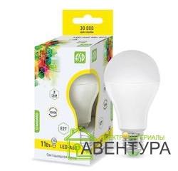 Электроматериалы в Саратове - Лампа LED-A60-Standart 11Вт 220В Е27 3000К 900Лм ASD