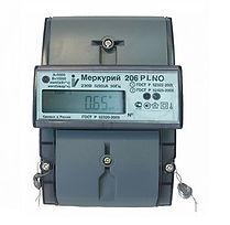 Электроматериалы - Счетчик электроэнергии однофазный многотарифный Меркурий 206 RN 60/5 Т4 D Ур RS485 оптопорт 230В ЖК (206 RN Ур)