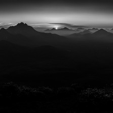 Sunset over the Stirling Ranges (in monochrome)