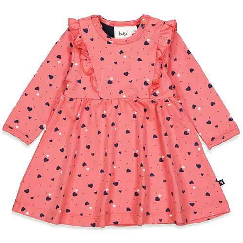 """Feetje Kleid rosa mit Herzchen  """"Sweatheart"""""""