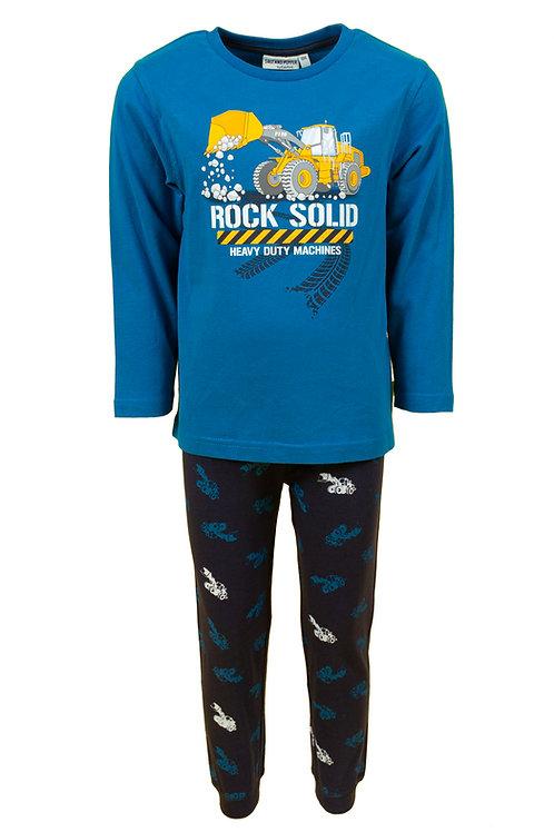 Salt and Pepper Schlafanzug blau Bagger