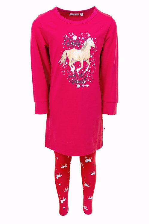 Salt and Pepper Schlafanzug Pferde pink