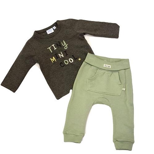Feetje Set Shirt & Hose grün grau gr. 68