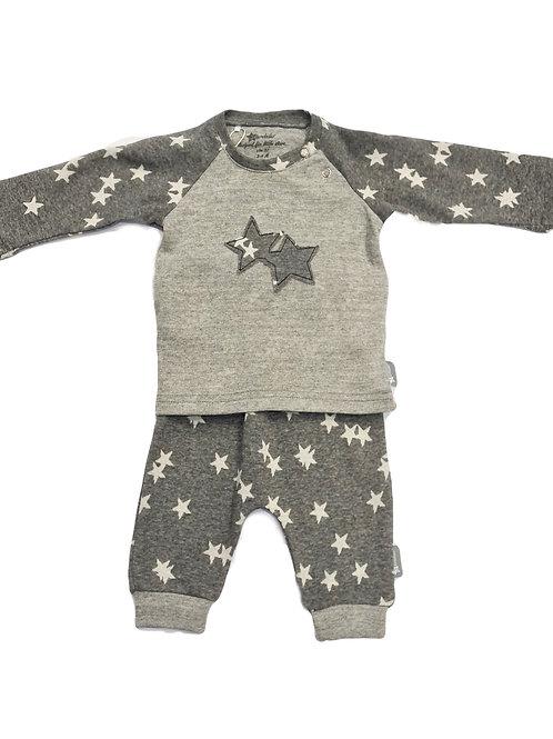 Sterntaler Set grau Sterne
