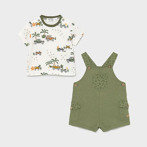 Mayoral Set Latzhose + T-Shirt grün