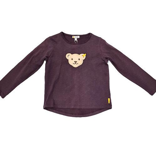 Steiff Langarm Shirt lila Quietsche-Teddy