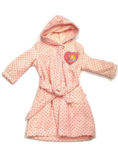 Schiesser Bademantel Frottee rosa Herzen