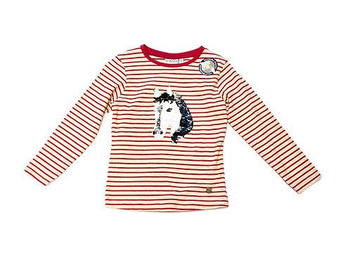 Salt and Pepper Shirt Pferd Wendepailletten gr. 104/110