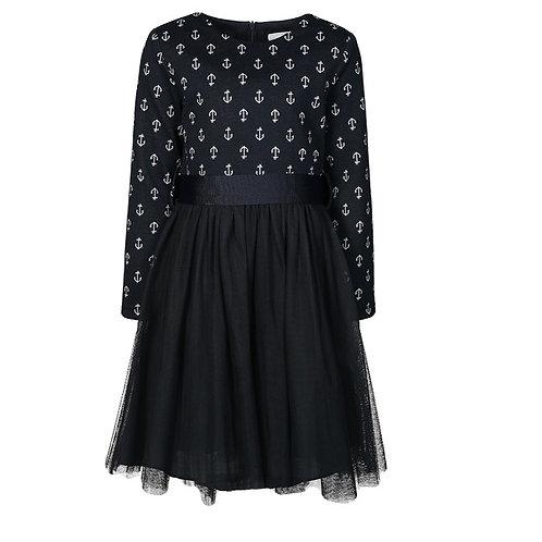 Kleid von Happy Girl dunkel blau