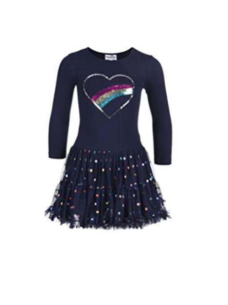 Kleid von Happy Girl Regenbogen Wendepailletten
