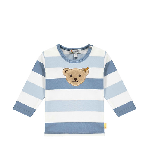 Steiff Langarm-Shirt Streifen blau