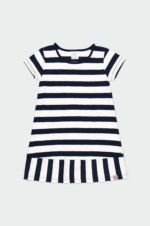 Boboli Kleid blau, weiß gestreift