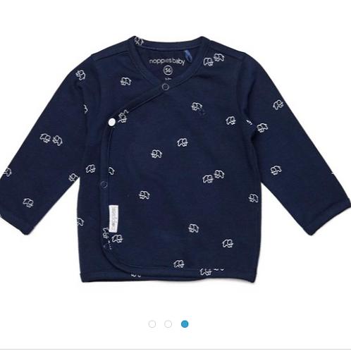 Baby Shirt Noppies Wickelshirt blau Elefanten