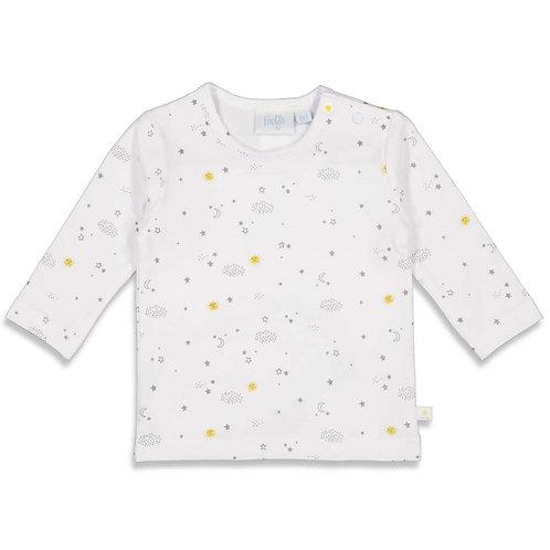 Feetje Shirt weiß, gelb Unisex Sunny Mood
