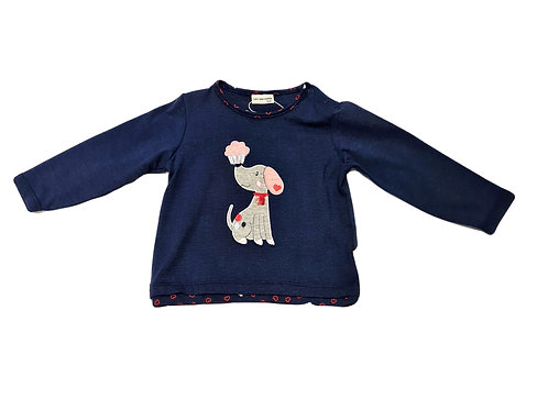 Salt and Pepper Shirt Hund blau gr. 74