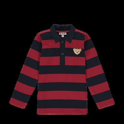 Steiff Polo-Shirt  Streifen rot/blau