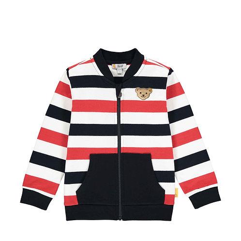 Steiff Sweatshirt-Jacke navy gestreift