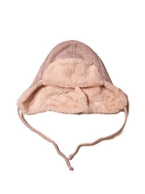 Sterntaler Flieger-Mütze rosa Glitzer