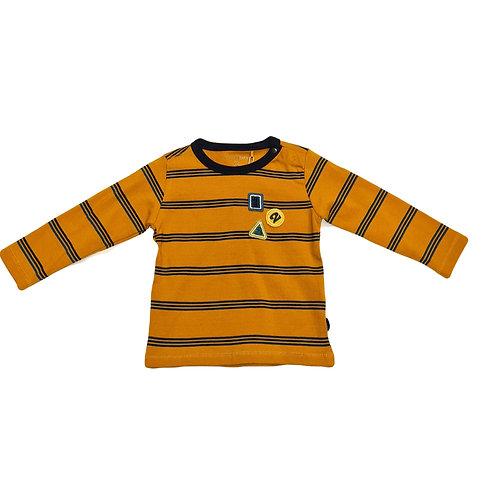 Longshirt Noppies Senf-gelb/blau