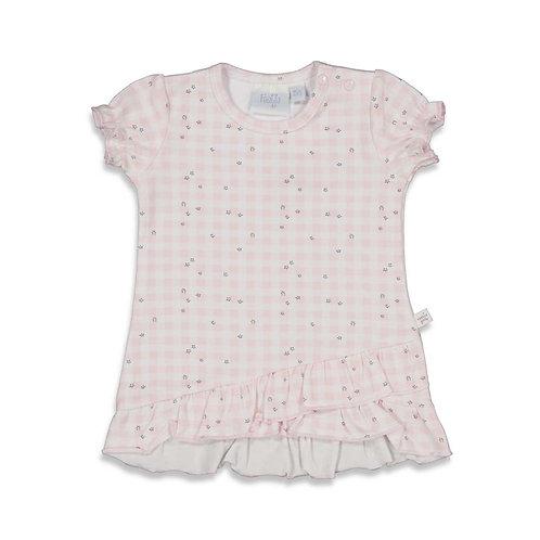 Feetje Tunika T-Shirt rosa, weiß
