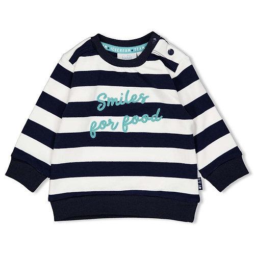"""Feetje Sweatshirt """"Smiler for good"""" blau weiß mint"""