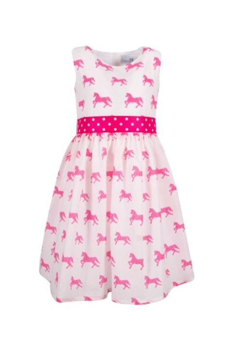 Happy Girl Kleid pink Pferde