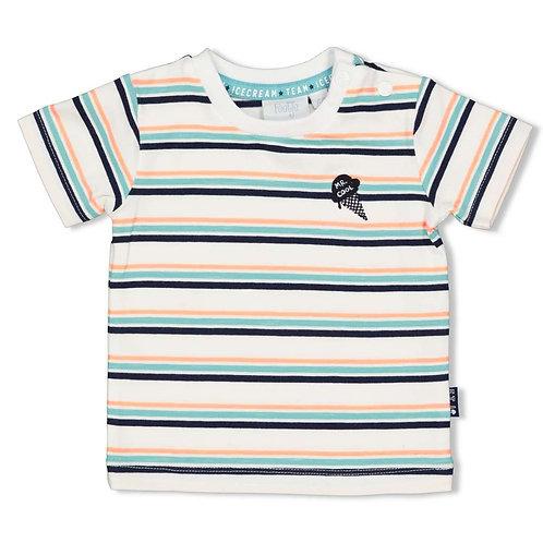 """Feetje T-Shirt """"ICE"""" blau weiß mint"""
