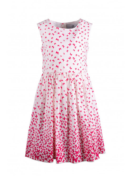 Happy Girl Sommer Kleid pink Schmetterlinge