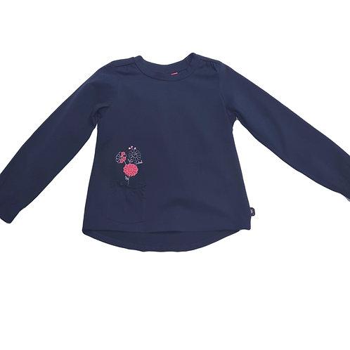 Jubel by Feetje Langarm Shirt dunkelblau Blume