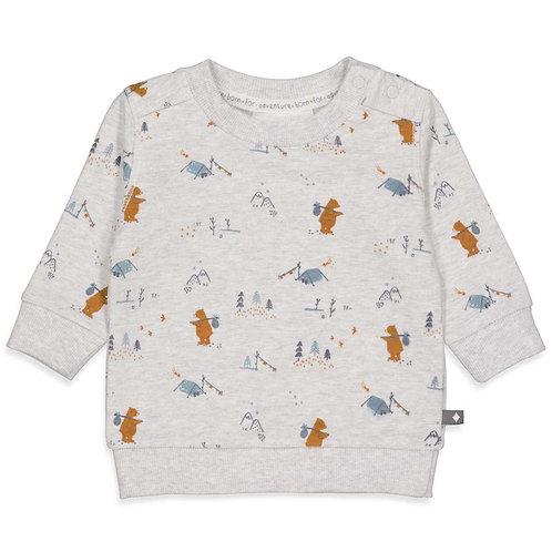 """Feetje Sweatshirt mint """"Griddly Bear"""""""