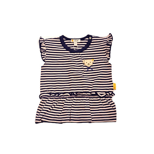 Steiff T-Shirt Tunika lila gestreift