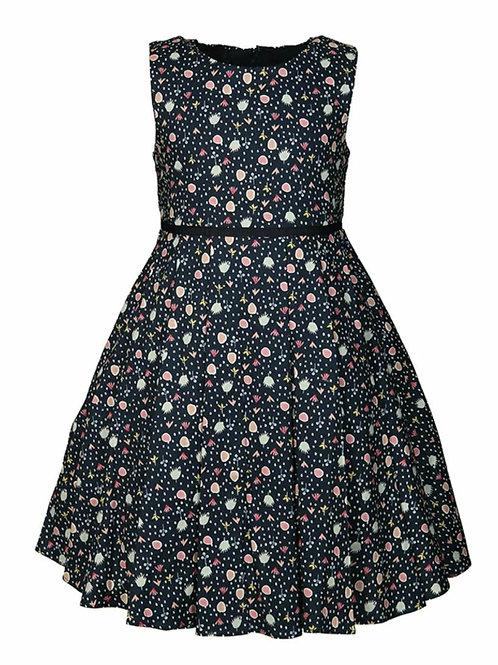 Happy Girl Sommerkleid Einschulung blau mit Punkten