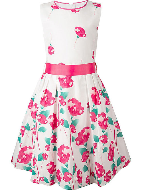Happy Girl Sommerkleid Einschulung pink Blumen