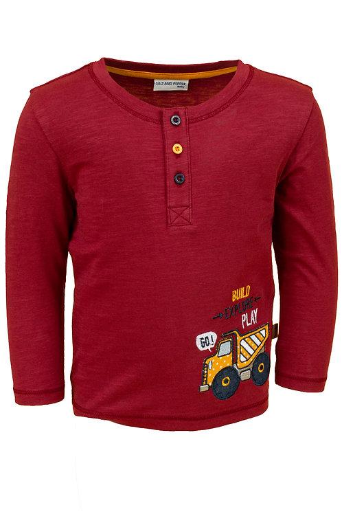 Salt and Pepper Langarm Shirt Bagger