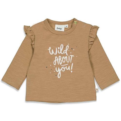 "Feetje Shirt camel ""Wild at haert"""