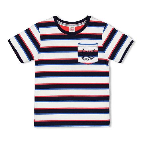 Sturdy by Feetje T-Shirt gestreift dunkelblau/rot/weiß