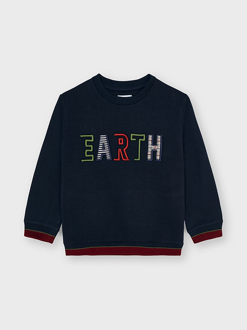 "Mayoral Pullover,  Sweatshirt blau ""EARTH"""