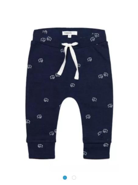 Baby Hose Noppies blau Elefanten