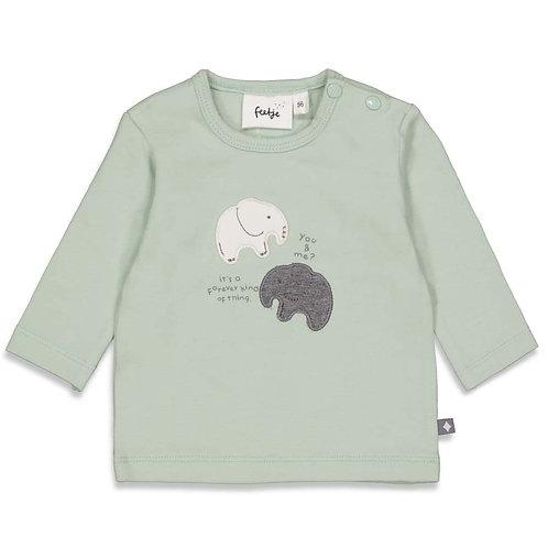 """Feetje Longshirt  grün mint """"Hi Elephant"""""""