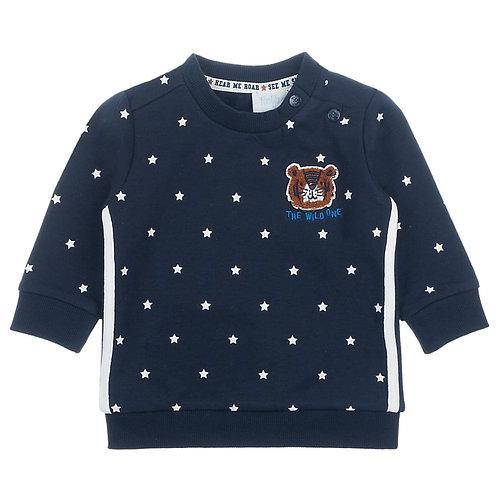 Feetje Sweatshirt blau Sterne